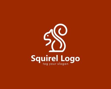 Abstract squirrel logo design vector