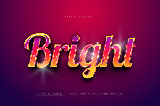 Bright rainbow style text effect premium free download