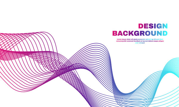stock illustration abstract geometric background with connected lines and wave molecule and communication part 2