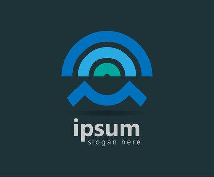 new signal network brand logo design template