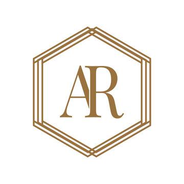 Simple Elegant Initial Letter Type AR Logo Sign Symbol Icon, Logo Design Template