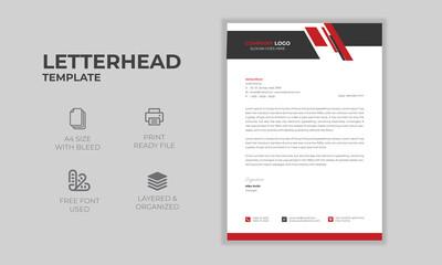 Fototapeta Abstract Letterhead Design Template Print Ready fully editable A4 Sie with bleed  obraz