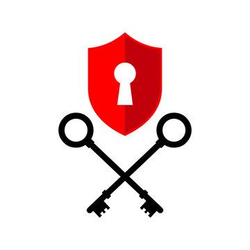 vector creative key keys logo locksmith company icon design illustration
