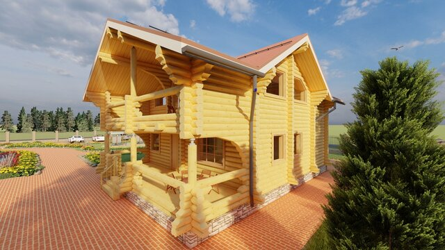 wooden home 3d picture