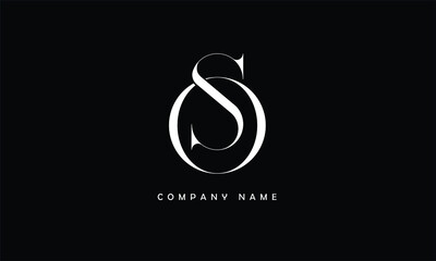 Obraz SO, OS, S, O Abstract Letters Logo Monogram - fototapety do salonu