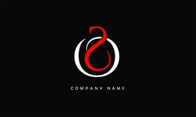 Fototapeta SO, OS, S, O Abstract Letters Logo Monogram obraz