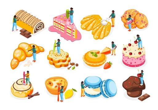 Bakery People Icons Set