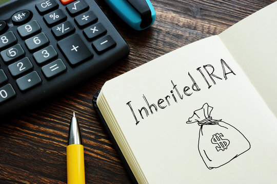 Inherited IRA is shown on the conceptual photo using the text