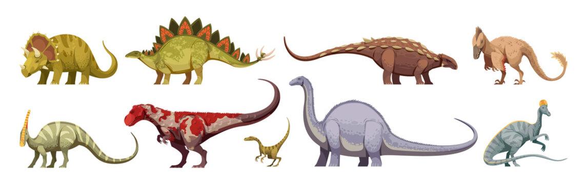 Dinosaurs Cartoon Set