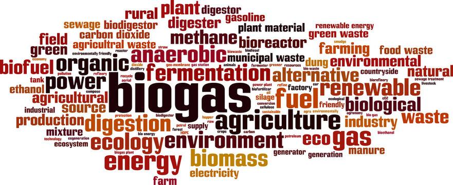 Biogas word cloud