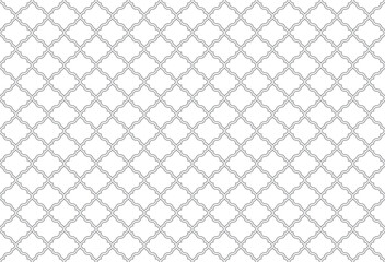 Fototapeta Abstract geometry pattern in Arabian style. Seamless vector background. White and gray graphic ornament. Simple lattice graphic design. obraz