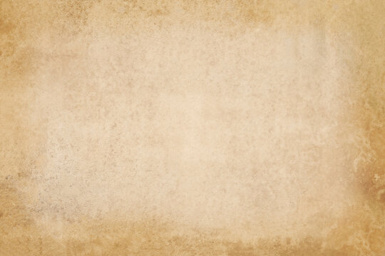 Vintage paper texture background, grunge old retro rustic cardboard clean brown empty blank space page with fiber pattern of kraft paper