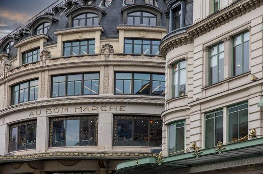 Le bon marché, grand magasin de luxe à paris