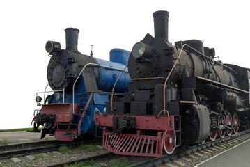 Old men-steam locomotives