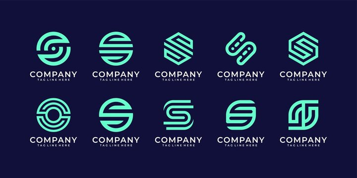 Collection of letter s logo design bundle inspiration