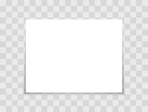 White realistic sheet paper. Blank paper page with shadow A4 size. Mockup vector sheet.