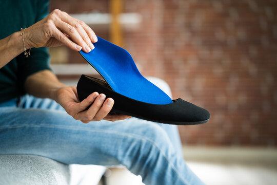 Shoe Sole In Footwear For Healthy Foot