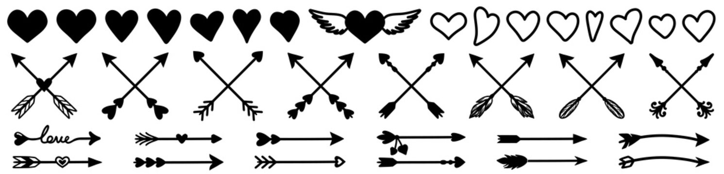 arrow, heart vector.arrow, heart icon.arrow, heart sign