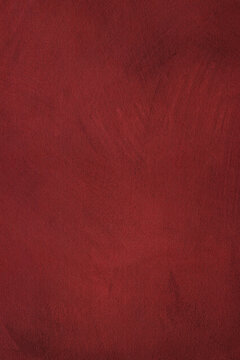 Abstract maroon red stained paper texture background or backdrop, watercolor. Empty maroon red paperboard or grainy cardboard for decorative design element.