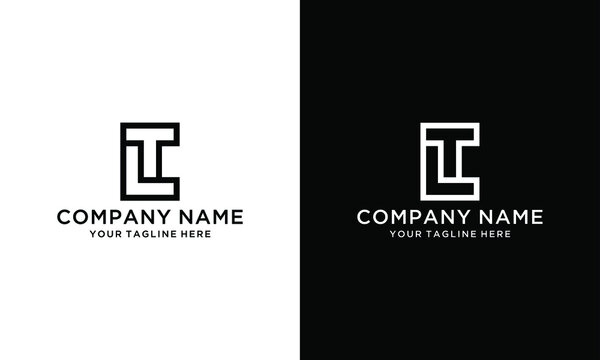 Minimalist elegant line art letter LT logo. This logo icon incorporate with two letter L and T in the creative way.