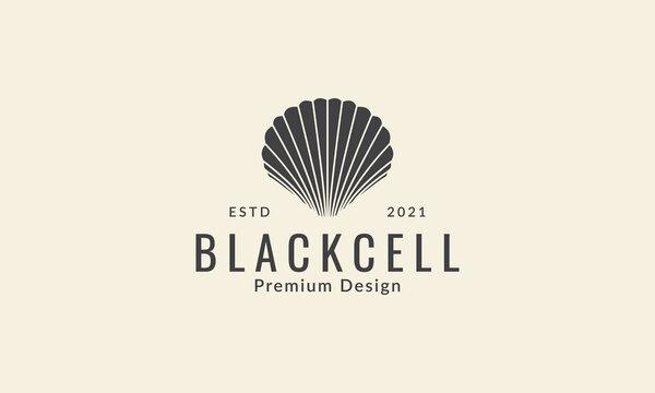 sea shells silhouette simple logo symbol icon vector graphic design illustration