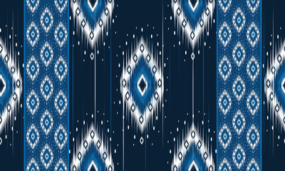 Geometric ethnic oriental ikat pattern traditional Design for background ,carpet,wallpaper,clothing,wrapping,Batik,fabric,Vector illustration.embroidery style.