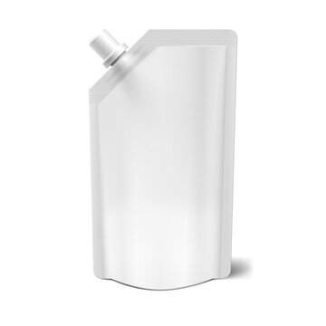 Realistic Blank Clear Spout Pouch Doy Bag