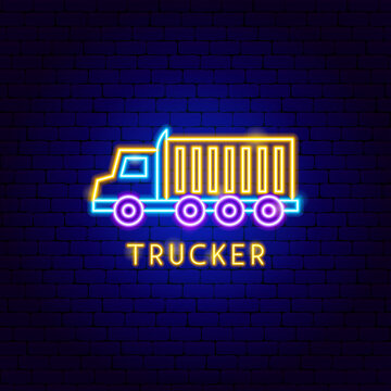 Trucker Neon Label