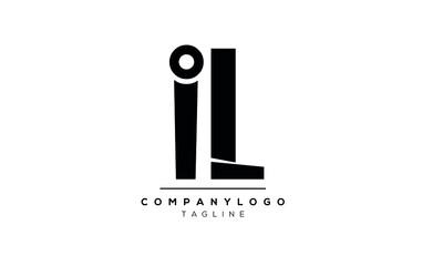 Fototapeta Abstract Letter Initial IL Vector Logo Design Template obraz