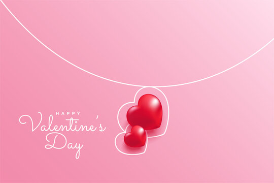 Minimal line heart for Valentine's day concept background. Vector symbols of love in shape of heart for Happy Women's, Mother's Day, Valentine's Day, birthday greeting card design.