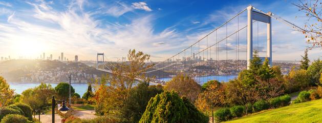 Fototapeta The Second Bosphorus Bridge or Fatih Sultan Mehmet Bridge, Istanbul obraz