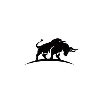 Bull Logo Vector Template Illustration Design