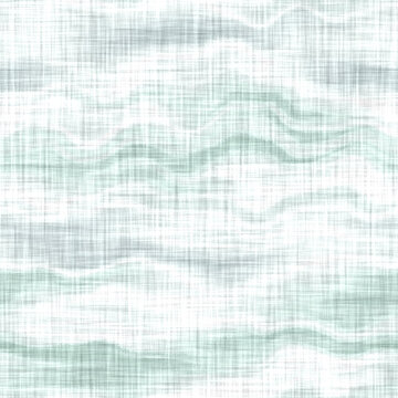 Aegean teal mottled stripe patterned linen texture background. Summer coastal living style home decor fabric effect. Sea green wash grunge distressed blur material. Decorative textile seamless pattern