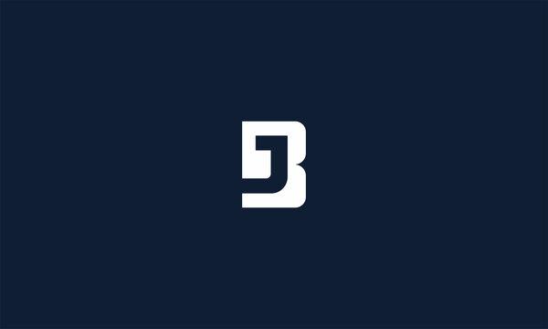 initial letter bj simple modern design