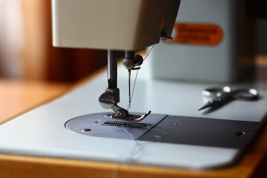 sewing machine needle close up