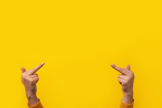 Double fuck over yellow background