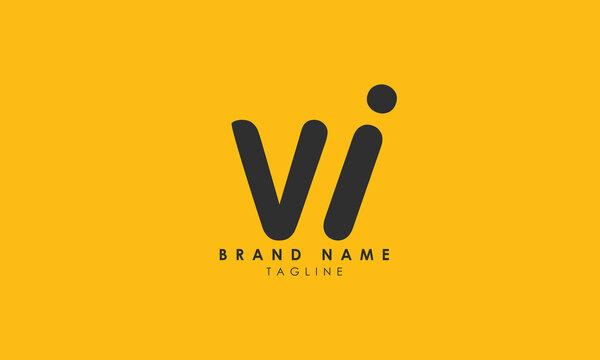 Alphabet letters Initials Monogram logo WI, IW, W and I, Alphabet Letters WI minimalist logo design in a simple yet elegant font, Unique modern creative minimal circular shaped fashion brands