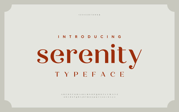 Classic typography elegant. Lettering minimal fashion designs. Alphabet uppercase, ampersand, ligatures. Vector illustration word.