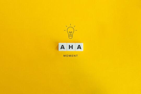 Aha Moment, Problem Solving, and Eureka Effect Concept Banner.