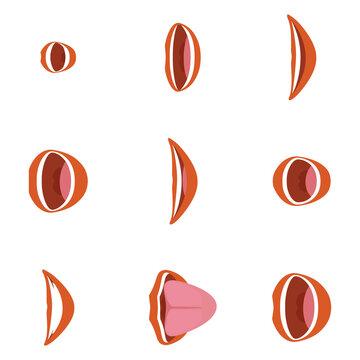 Mouth icon set