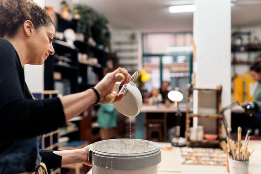 Learning in Pottery Class