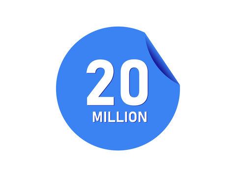 20 million badge, 20 million banner