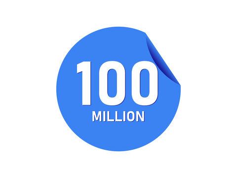 100 million badge, 100 million banner