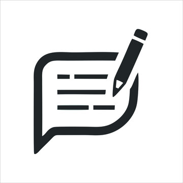 stationery icon isolated on white background from school collection. trendy and modern writing icons writing symbols for logos, web, apps, UI. write simple sign icon.