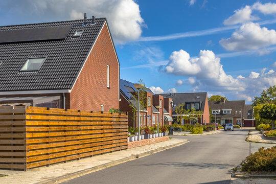 Street modern houses