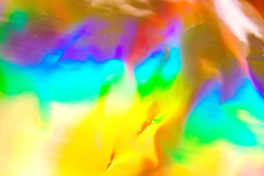 Abstract blurred holographic iridescent mermaid foil texture bac