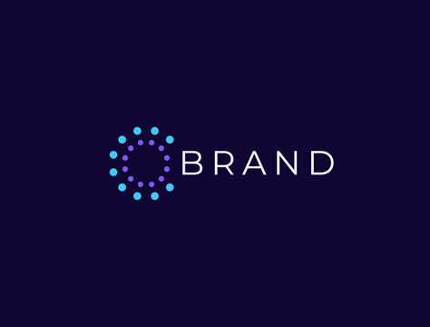 Abstract circle logo. Creative dynamic round logotype. Connection symbol.