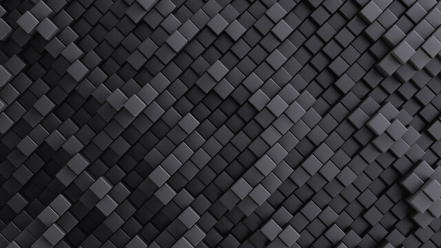 Lots of rectangular cells. Abstract background. Shades of gray