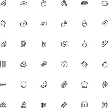 icon vector icon set such as: tangerine, basket, chief, caffeine, beet, lemon, stem, line art, anti, microbe, capers, root, storage, barrel, company, keg, cultivation, fish, wine, outdoor, bacillus
