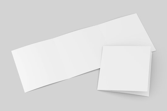 trifold brochure mock up view - 3d rendering